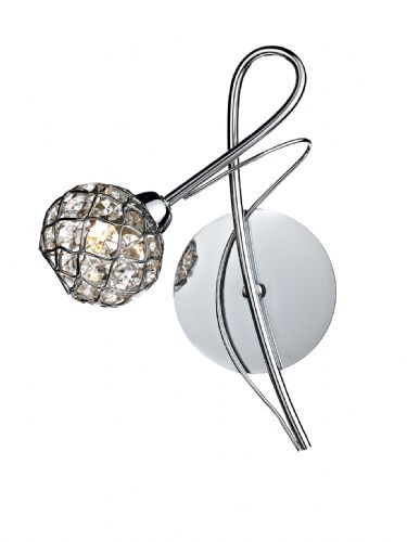 Circa 1-light Polished Chrome Wall Light (Class 2 Double Insulated) BXCIR0750-17